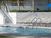 Empty swimming pool at a luxury hotel Miami Beach USA