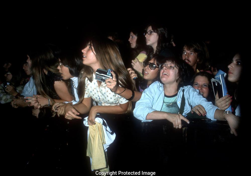 .Fans at Elton John concert in  October 1973...Photo by Dennis Brack b11