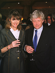 MR & MRS FRANK JOHNSON she is the mother of model Honor Fraser, at a party in London on 29th April 1999.MRO 94