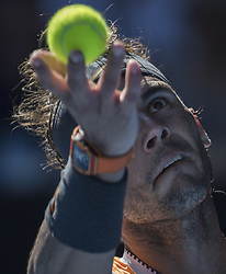 MELBOURNE, Jan. 20, 2019  Rafael Nadal of Spain serves the ball during the men's singles 4th round match against  Tomas Berdych of Czech Republic at the Australian Open in Melbourne, Australia, Jan. 20, 2019. (Credit Image: © Lui Siu Wai/Xinhua via ZUMA Wire)