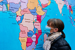 Edinburgh, Scotland, UK. 30 July, 2020. Because this years Edinburgh Art Festival has been cancelled due to the Covid-19 pandemic, the organisers invited 10 artists from previous festivals, to work with them to mark the dates of what would have been their 2020 festival. Pictured; Tam Joseph's work The Hand Made Map Of The World, (2014) in which the countries of the world have been playfully changed, is on display at The Meadows. The map is based on an original painting made in 2012 and was first presented as a billboard in the 2014 festival. Iain Masterton/Alamy Live News