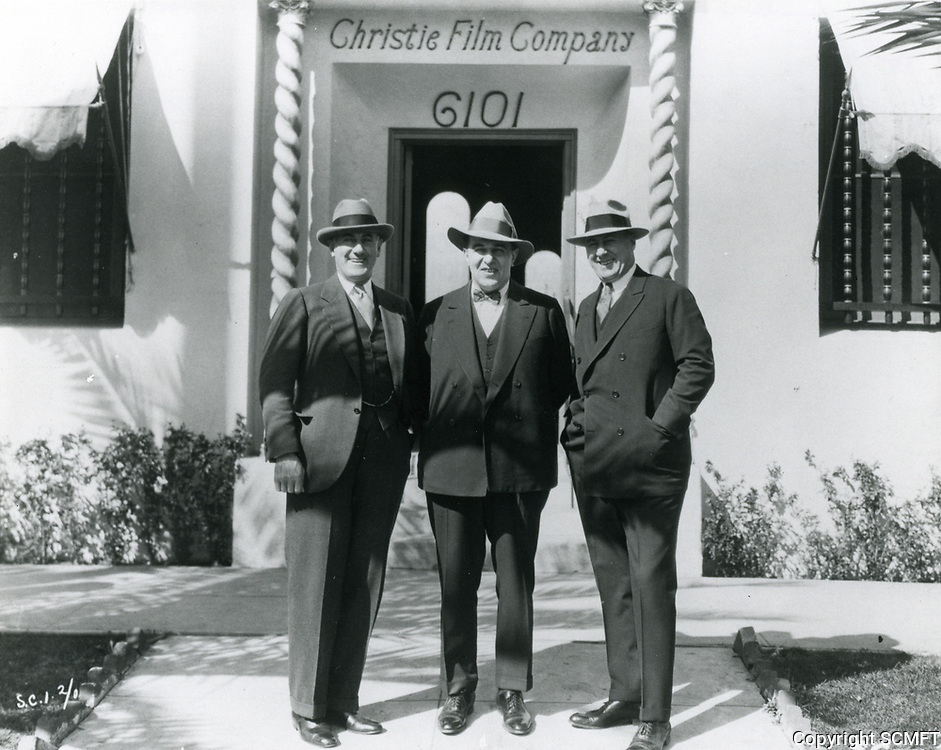 1927 (L to R) Al Christie and Charles Christie at Christie Studios