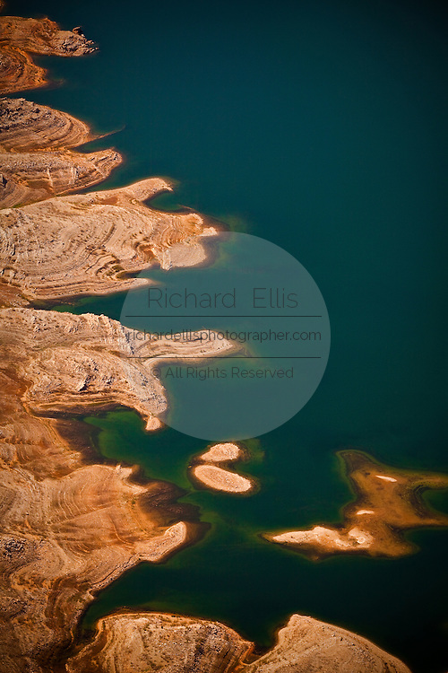 Aerial view of Bonelli Bay on Lake Mead National Recreation Area, Arizona.