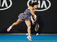 Carla Suarez Navarro of Spain in action during her second-round match at the 2019 Australian Open Grand Slam tennis tournament on January 17, 2019 at Melbourne Park in Melbourne, Australia - Photo Rob Prange / Spain ProSportsImages / DPPI / ProSportsImages / DPPI