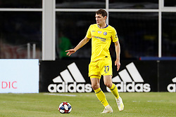 May 15, 2019 - Foxborough, MA, U.S. - FOXBOROUGH, MA - MAY 15: Chelsea FC defender Andreas Christensen (27) looks for help during the Final Whistle on Hate match between the New England Revolution and Chelsea Football Club on May 15, 2019, at Gillette Stadium in Foxborough, Massachusetts. (Photo by Fred Kfoury III/Icon Sportswire) (Credit Image: © Fred Kfoury Iii/Icon SMI via ZUMA Press)