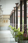 Balustrades and plants the Kraton of Yogyakarta, Yogyakarta, Yogyakarta Special Region, Java, Indonesia, Southeast Asia