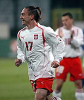 26/03/2005 WARSAW POLAND<br /> 26/03/2005 POLAND v AZERBAIJAN World Cup 2006 Qualifying Group 6 <br /> MAREK SAGANOWSKI CELEBRATES HIS GOAL FOR POLAND<br /> FOT: PIOTR HAWALEJ /Digitalsport