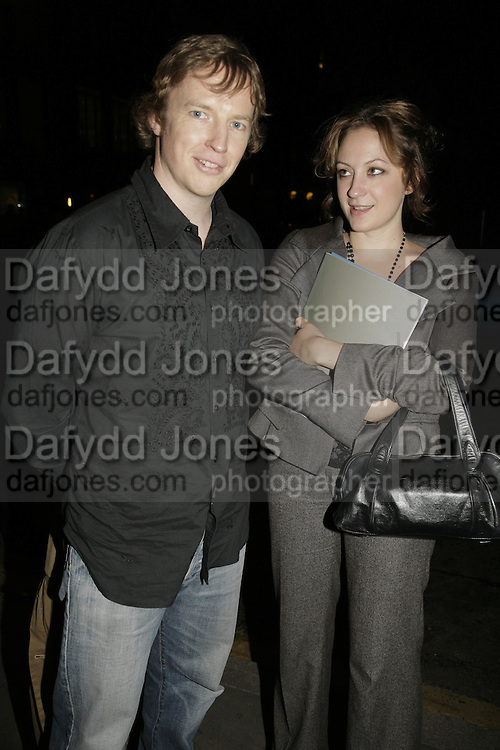 Mark Nicol and Brooke McGowan, Johnnie Shand Kydd:  book launch party celebrate the publication of Crash.White Cube. Hoxton sq. London. 18 September 2006. ONE TIME USE ONLY - DO NOT ARCHIVE  © Copyright Photograph by Dafydd Jones 66 Stockwell Park Rd. London SW9 0DA Tel 020 7733 0108 www.dafjones.com