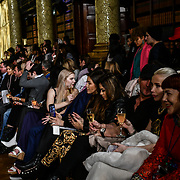 Model perparing back stage by Moroccanoil hair stylish and Make up by Bellapierre for the AADNEVIK's Autumn/Winter 2019 fashion show at The Royal Horseguards One Whitehall Place, London, UK. 17 Feb 2019.