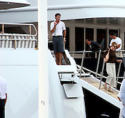 **EXCLUSIVE**.Ellen Barkin coming out of Ron Pearlman's Yacht Ultima .St. Barth, Caribbean.Tuesday, December, 27, 2005 .Photo By Celebrityvibe.com.To license this image call (212) 410 5354 or;.Email: sales@celebrityvibe.com; .Website: http://www.celebrityvibe.com/. ....