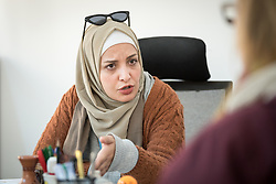 17 February 2020, Zarqa, Jordan: Islam Asmet Al-Shdaifat is area manager for Zarqa and Za'atari Camp in Jordan.