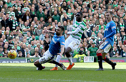 Celtic's Odsonne Edouard scoring his sides second goal during the Ladbrokes Scottish Premiership match at Celtic Park, Glasgow.