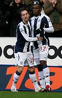 Photo: Steve Bond/Richard Lane Photography. West Bromwich Albion v Newcastle United. Barclays Premiership. 07/02/2009. Marc-Antoine Fortune (R) and Borja Valero (L) celebrate