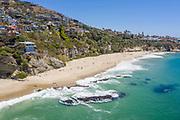 Aerial Ocean View of Laguna Beach Properties on the Coast