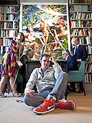 """Photographer David LaChapelle in a Dover Street Gallery which is hanging his work """"The Rape of Africa"""""""
