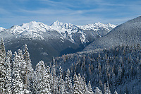 Goat Mountain in winter seen from Mount Baker Highway, North Caascades Washington