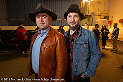 Rags and Gents Vasily Kostin and Max Tatarinov fo Moscow, Russia at the Mooneyes afterparty at their Area-1 store for overseas guests after the Yokohama show. Monday, December 3, 2018. Photography ©2018 Michael Lichter.