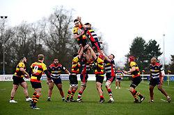 Richmond line out against Bristol Rugby - Mandatory by-line: Dougie Allward/JMP - 30/12/2017 - RUGBY - The Athletic Ground - Richmond, England - Richmond v Bristol Rugby - Greene King IPA Championship