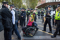 2019-10-13 Extinction Rebellion disability protest at New Scotland Yard