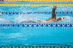 October 11, 2018 - Jakarta, Jakarta, Indonesia - Jakarta, Indonesia, 11 October 2018 : An Indonesian Paraswimmer during the competition. Paraswim compettition at Aquatic Building in Gelora Bung Karno Jakarta on Asian Paragames 2018 Competition. (Credit Image: © Donal Husni/ZUMA Wire)