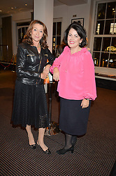 Left to right, actress CHERIE LUNGHI and film producer PIPPA HARRIS the UK Premiere of The Uncondemned hosted by Women for Women International at BAFTA, 195 Piccadilly, London on 2nd November 2016.