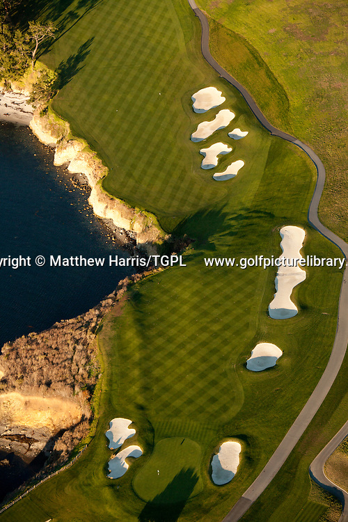 Pebble Beach Golf  Links venue for the 2010 US Open Championships,Pebble Beach,California,USA.6th par 5.