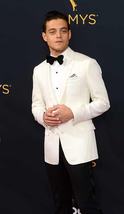 """September 18, 2016 - Los Angeles, California, U.S. - RAMI MALEK, who is nominated for the best actor category for his role as Elliot Alderson, a hacker, in """"Mr. Robot."""" arrives at the 68th Annual Emmy Awards at the Microsoft Theater in Los Angeles, California on Sunday, September 18, 2016. (Credit Image: © Michael Owen Baker/Los Angeles Daily News via ZUMA Wire)"""