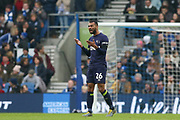 GOAL - Derby County defender Ashley Cole (26) gestures to his players after celebrating 2-1 during the The FA Cup 5th round match between Brighton and Hove Albion and Derby County at the American Express Community Stadium, Brighton and Hove, England on 16 February 2019.