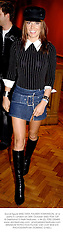 Social figure MISS TARA PALMER-TOMKINSON, at a party in London on 30th October 2002.PEM 129