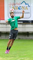21.07.2014, Parkstadion, Zell am Ziller, AUT, SV Werder Bremen Trainingslager, im Bild Mehmet Ekici (SV Werder Bremen #10) bei der Ballannahme mit der Brust // during the Preparation Camp of the German Bundesliga Club SV Werder Bremen at the Parkstadion in Zell am Ziller, Austria on 2014/07/21. EXPA Pictures © 2014, PhotoCredit: EXPA/ Andreas Gumz<br /> <br /> *****ATTENTION - OUT of GER*****