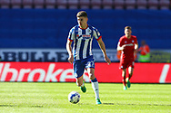 Ryan Colclough of Wigan Athletic in action. EFL Skybet Championship match , Wigan Athletic v Cardiff city at the DW Stadium in Wigan, Lancs on Saturday 22nd April 2017.<br /> pic by Chris Stading, Andrew Orchard sports photography.
