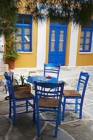 Grece, les Cyclades, ile de Paros, village de Lefkes // Greece, Cyclades islands, Paros island, Lefkes village