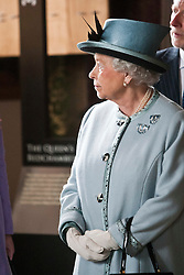 Her Majesty viewed the newly refurbished James V Palace, at Stirling Castle on Wednesday, 6th July 2011. Pic in the Queen's Bedchamber..Pic : Michael Schofield.