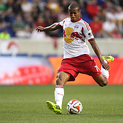 Roy Miller, New York Red Bulls, in action during the New York Red Bulls Vs Chicago Fire, Major League Soccer regular season match at Red Bull Arena, Harrison, New Jersey. USA. 10th May 2014. Photo Tim Clayton