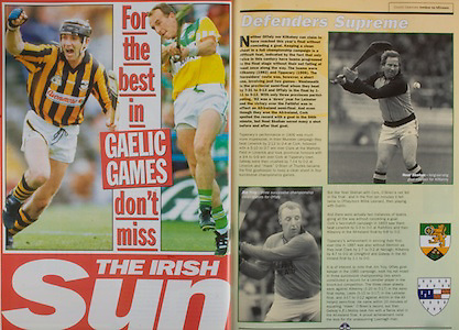 All Ireland Senior Hurling Championship - Final, .13.09.1998, 09.13.1998, 13th September 1998, .13091998AISHCF,.Senior Kilkenny v Offaly, .Minor Kilkenny v Cork,.Offaly 2-16, Kilkenny 1-13,.The Irish Sun,