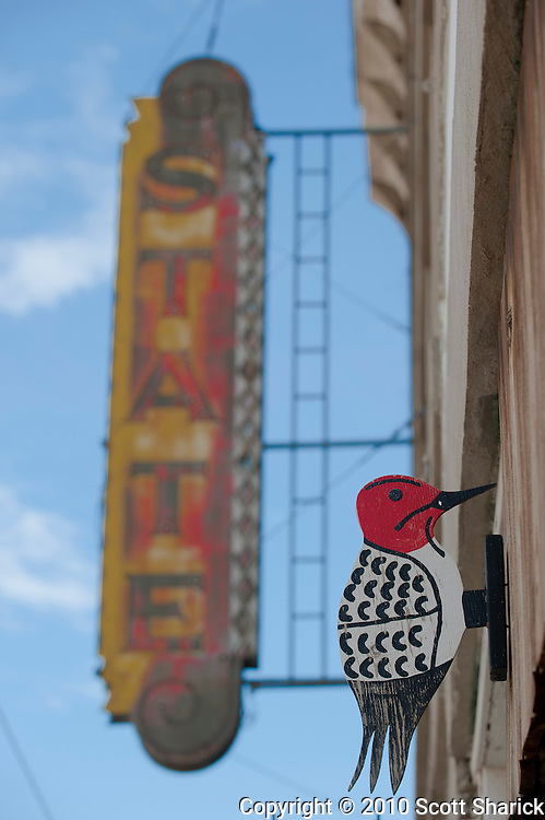 This abandoned building in downtown Harlowton Montana doesn't have a whole lot holding it up. Good thing this woodpecker can't do any harm. Missoula Photographer, Missoula Photographers, Montana Pictures, Montana Photos, Photos of Montana