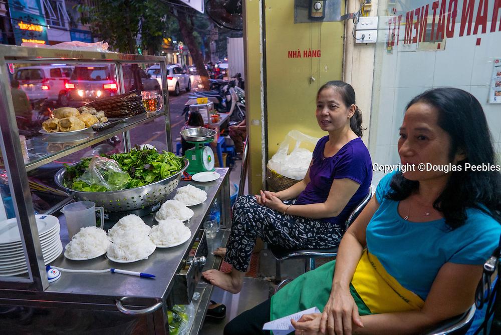 Where Barack Obama and Anthony Bourdain dined, Bun Cha Huong Lein Restaurant, Hanoi,Vietnam, Asia