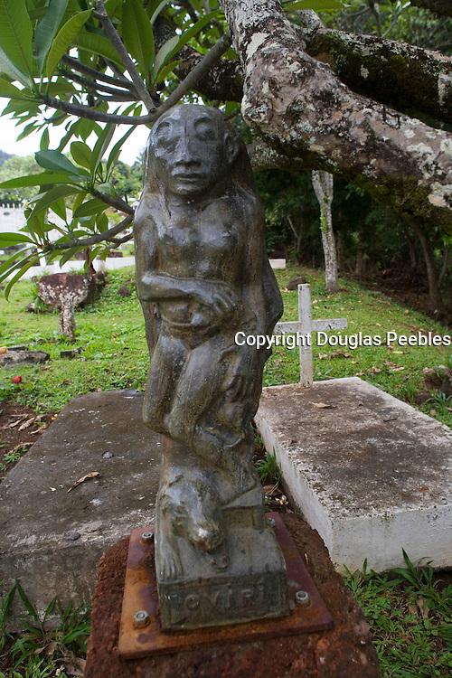 Oviri, Paul Gauguin's grave, Atuona, Hiva Oa, Marquesa Islands, French Polynesia<br />