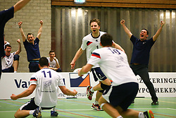 20160326 NED: Volleybal: Sliedrecht Sport - SV Dynamo 2, Sliedrecht  <br />Vreugde bij Sliedrecht Sport, Lucas Vermeulen, Tim Oskam