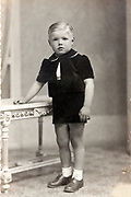 young boy in a classic studio memory portrait France
