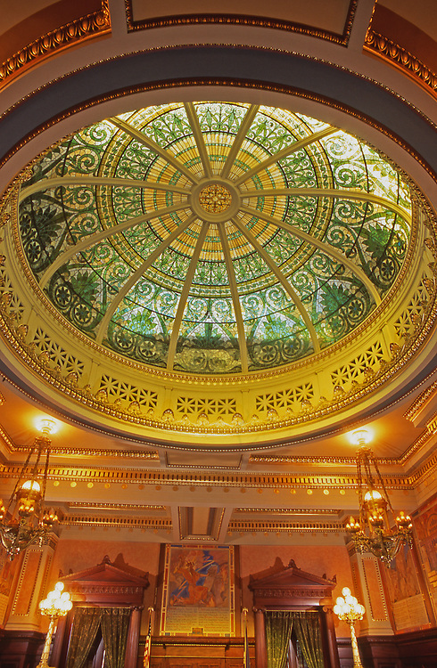 Supreme Court, PA Capitol, interior dome and art by Violet Oakley, Harrisburg, Pennsylvania