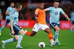 10-10-2019 NED: Netherlands - Northern Ireland, Rotterdam<br /> UEFA Qualifying round Group C match between Netherlands and Northern Ireland at De Kuip in Rotterdam / Steven Bergwijn #7 of the Netherlands, Corry Evans #13 of Northern Ireland