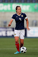Rachel Corsie (#4) of Scotland on the ball during the FIFA Women's World Cup UEFA Qualifier match between Scotland Women and Belarus Women at Falkirk Stadium, Falkirk, Scotland on 7 June 2018. Picture by Craig Doyle.
