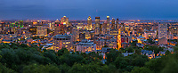 Panoramic aerial view of Montreal cityscape, Canada
