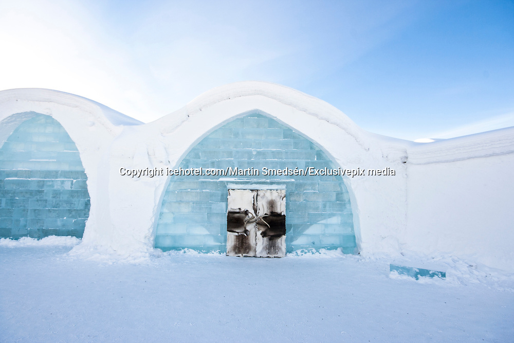 Ice Hotel amazing suites entirely made of ice and snow<br /> <br /> ICE HOTEL, 19 individually themed and hand crafted art suites have been newly designed by creatives from across the world – from a swedish artist who made a giant snow elephant in the room, to a french team who fused snow, ice and disco into a groovy sleeping experience. each year, the hotel creates a new series of artist-designed accommodation spaces that add to the existing landscape of  private rooms.<br /> <br /> the amount of snow used to create its more than 50 bedrooms, church and a bar would make 700 million snowballs, while the chandeliers alone are made from 1,000 hand cut ice crystals. thematically, this year's edition features flocks of animals from elephants to peacocks, patterns drawn from nature, architecturally-motivated designs and theater-inspired schemes.<br /> ©icehotel.com/Martin Smedsén/Exclusivepix media