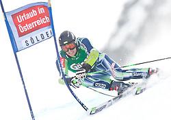 24.10.2010, Rettenbachferner, Soelden, AUT, FIS World Cup Ski Alpin, Men, 1st run, im Bild Ales Gorza, SLO, Ski Fischer, #46, EXPA Pictures © 2010, PhotoCredit: EXPA/ J. Groder