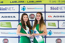 Hostesses with Dragon trophy during Stage 2 of 24th Tour of Slovenia 2017 / Tour de Slovenie from Ljubljana to Ljubljana (169,9 km) cycling race on June 16, 2017 in Slovenia. Photo by Vid Ponikvar / Sportida