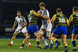 Richie Gray of Toulouse is tackled by Ellis Jenkins of Cardiff Blues - Mandatory by-line: Craig Thomas/JMP - 14/01/2018 - RUGBY - BT Sport Cardiff Arms Park - Cardiff, Wales - Cardiff Blues v Toulouse - European Rugby Challenge Cup