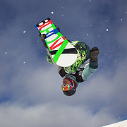Nikolay Bilanin, Russia, in action during the Men's Half Pipe Qualification in the LG Snowboard FIS World Cup, during the Winter Games at Cardrona, Wanaka, New Zealand, 27th August 2011. Photo Tim Clayton..