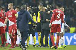 December 6, 2017 - Na - Porto, 06/12/2017 - Football Club of Porto received, this evening, AS Monaco FC in the match of the 6th Match of Group G, Champions League 2017/18, in Estádio do Dragão. Leonardo Jardim; Sérgio Conceição at the end of the game  (Credit Image: © Atlantico Press via ZUMA Wire)